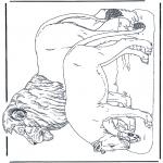 Раскраски с животными - Львы 2