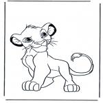 Раскраски с животными - Львы 4