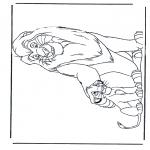Раскраски с животными - Львы 5