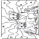 Раскраски с животными - Львята