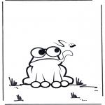 Раскраски с животными - Лягушка