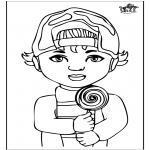 Детские раскраски - Мальчик 1