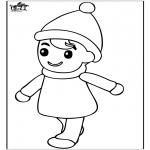 Детские раскраски - Мальчик 2