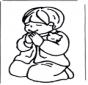 Мальчик молится