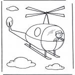 Детские раскраски - Маленький вертолет