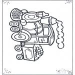 Детские раскраски - Маленький паровозик