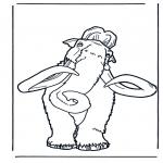 Раскраски с животными - Мамонт