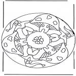 Мандалы - мандала с гномиком