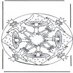 Разнообразные - Мандала с грибом 1
