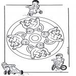 Мандалы -  мандала с обезьянами