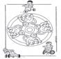 мандала с обезьянами