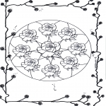 Мандалы - мандала с розами 2
