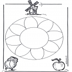 Мандалы -  мандала с цветами 1