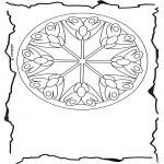 Мандалы -  мандала с цветами 3