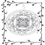 Мандалы -  мандала с цветами