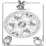 Мандалы - мандала с утками