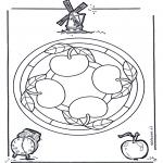 Мандалы - мандала с яблоком