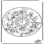 Мандалы - Мандала со зверями 1
