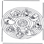 Мандалы - Мандала со зверями 2