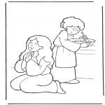 Раскраски по Библии - Марфа и Мария