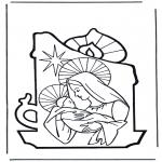 Раскраски по Библии - Мария и Иисус