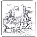 Раскраски по Библии - Мария и Марфа 1