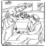 Раскраски по Библии - Мария и Марфа 2