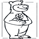 Раскраски с животными - Медведь