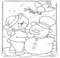 Медведь на снегу