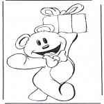 Темы - Медведь с подарком