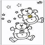 Раскраски с животными - медведи