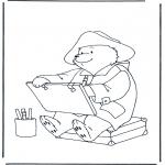 Детские раскраски - Медвежонок Пэддингтон 1