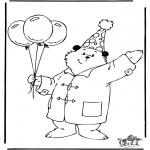 Детские раскраски - Медвежонок Пэддингтон 3