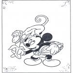 Персонажи комиксов - Микки и обезьяна