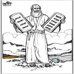 Раскраски по Библии - Моисей 4