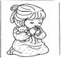 Молящаяся девочка