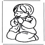 Раскраски по Библии - Молящийся мальчик