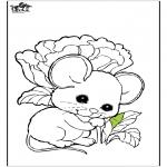 Раскраски с животными - мышь 1