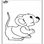 Раскраски с животными - мышь 2