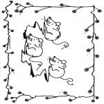 Раскраски с животными - Мыши́ные 1