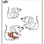 Раскраски с животными - Мыши́ные 2