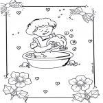 Детские раскраски - Мытье посуды