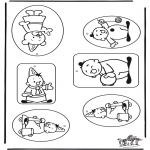 Рукоделие - Наклейка Подарок - бумба