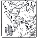 Раскраски по Библии - Ноев Ковчег 1