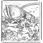 Раскраски по Библии - Ноев Ковчег 4