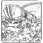Раскраски по Библии - Ноев Ковчег 5