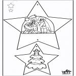 Рождественские раскраски - Новогодние украшения - Библия 1