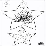 Рождественские раскраски - Новогодние украшения - Библия 3
