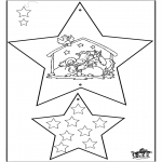 Рождественские раскраски - Новогодние украшения - Библия 4