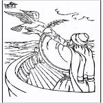 Раскраски по Библии - Ной 3
